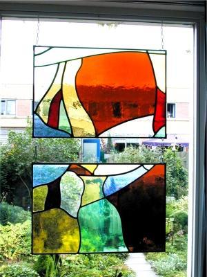 Verwonderend Decoratieve glas in lood raamhanger | glassart.nl LF-43
