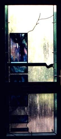 Decoratieve glas in lood deur