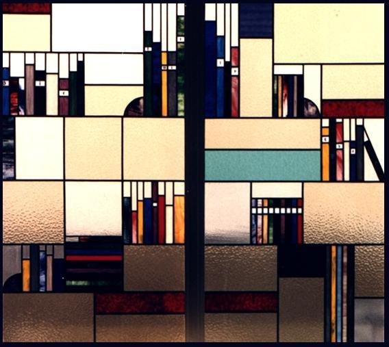 glas in lood boekenkast