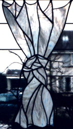 Decoratief glas in lood keukenraam - Meubels keukenraam ...