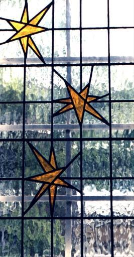 Decoratief glas in lood slaapkamerraam
