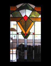Glas in lood paneel voor tussendeur