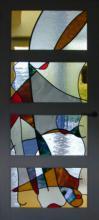 Glas in lood tussendeur