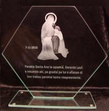 Relatiegeschenk gezandstraalde Sint Anna