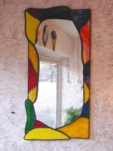 Spiegel van glas in lood