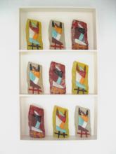 wandobject van geschilderd triplex